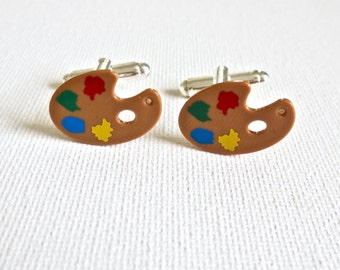 Mini Art Easel Cufflinks Cuff Links LEGO Wedding Groom Groomsmen For Artists Gift