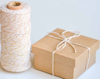 Gold/Natural Cotton Baker Twine - 100m