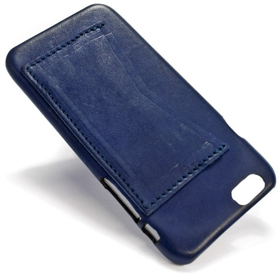 """iPhone 6S display 4.7"""" Italian Leather Case with 2 credit cards holder horizontal SLOTs choose the color of BODY and ACCENT"""
