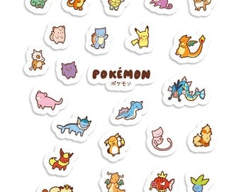 Chibi Pokemon ~ Pokemon ~ Sticker Sheet 70mm x 100mm