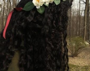White Bohemian Flower Crown