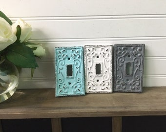Light Switch Cover/Nursery Wall Decor/ Light Switch Plate/Country Chic/Farmhouse/Outlet Cover/Shabby Chic/French Country