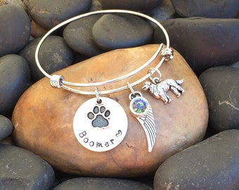 Golden Retriever Memorial Bracelet | Golden Retriever Memorial Jewelry | Rainbow Bridge Jewelry | Pet Memorial Jewelry | Pet Sympathy Gift
