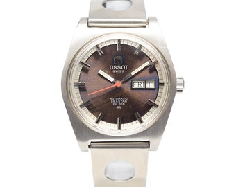 1970s Vintage Tissot Automatic Watch with Tropical Dial