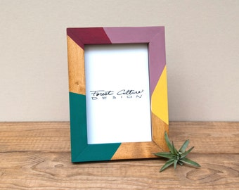 4x6 Picture Frame | Radial Color Block | Modern Picture Frame