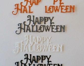 Happy Halloween Script Die Cuts