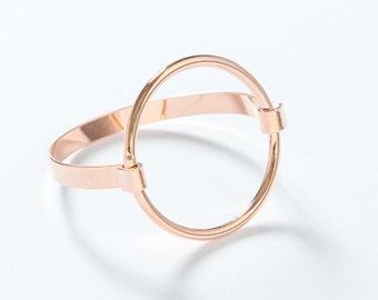 NEW rush circle pink gold