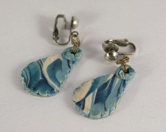 Blue Earrings Sea Foam Blue Drop Beach Dangle Jewelry