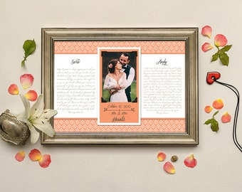 Anniversary Gifts For Men, Wedding Vows Picture Frame, Frames