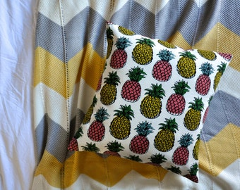 Pineapple Print Envelope Cushion Cover