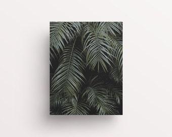 Palm Leaves Print, Watercolour Palm Leaves, Botanical Leaves Print, Palm Print, Dark Palm Leaves, Modern Wall Art, Stylish Decor, Office