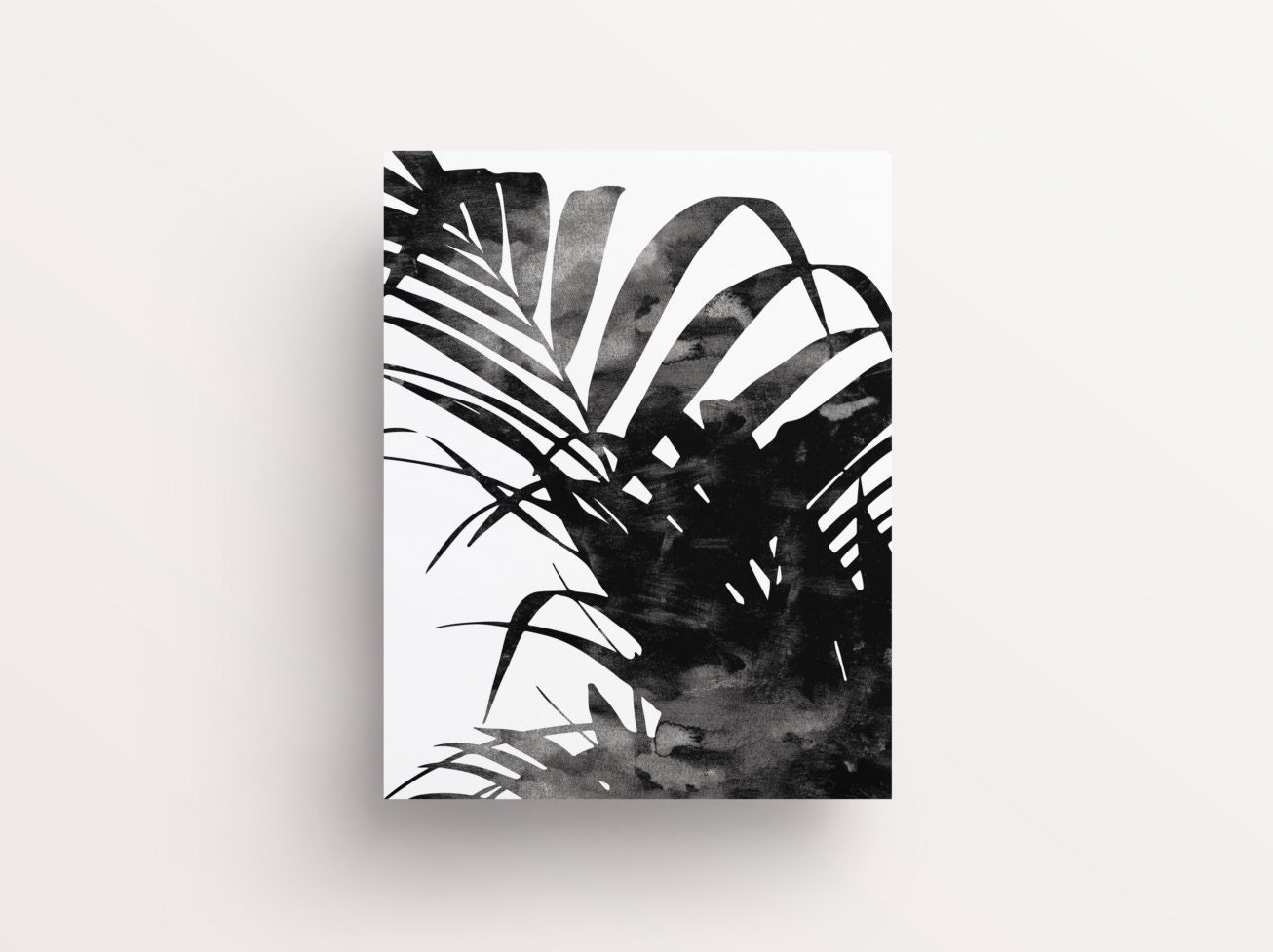 Palm leaves palm print plant decor black leaf print zoom amipublicfo Images