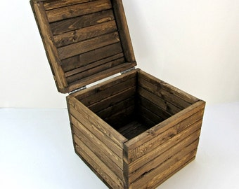 made to order 15 inch storage cube rustic by independentboxworks. Black Bedroom Furniture Sets. Home Design Ideas