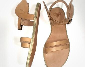 Goddess Nike handmade leather women wings sandals