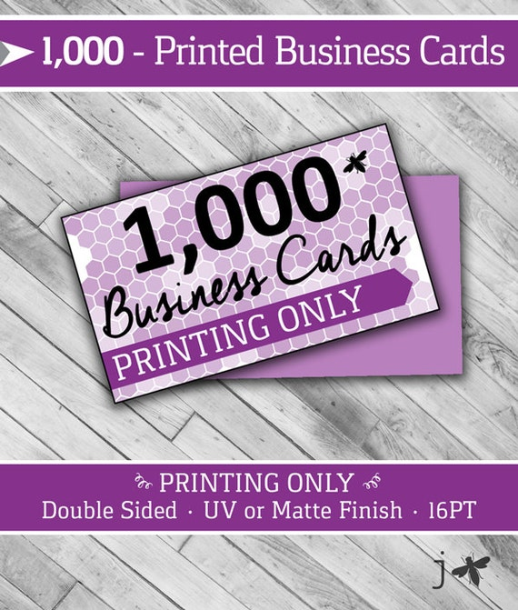 1000 PRINTING ONLY Business Cards 2 x 3 5 16PT