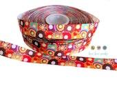 "7/8"" Adorable Donut print Grosgrain Ribbon- Hairbows-Scrapbooking-Dessert-bakery-cupcakes-sprinkles-Gift Wrap-DIY-craft-wholesale-trim"