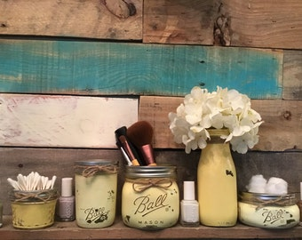 popular items for yellow mason jar on etsy