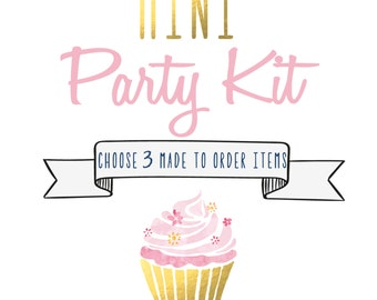 Mini Party Kit - Choose 3 Items - Party Pack