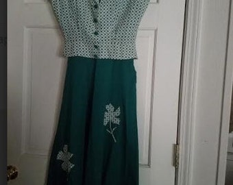 Vintage Nardis of Dallas 2-piece with belt size 12 S/M