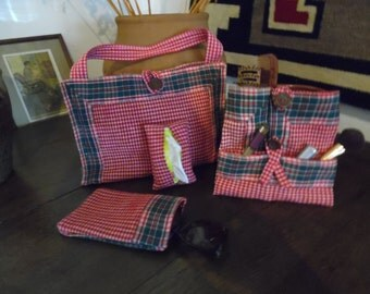 Tote and Cosmetic case Set of 4