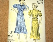 Unused 1940's Du Barry 1677B Pattern - 2 Piece Dress, Size 12 Bust 30