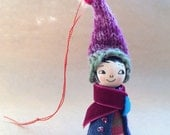 Juniper - Loobylu Wintery Elf OOAK Ornament (No.21)