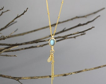 Labraodrite Pendant Small Eye Necklace, Labradorite Necklace,  Delicate Necklace, Dainty Necklace, Gold Filled Necklace, Bridal Necklace