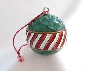 Golf Ball Christmas Ornament, Golf Gift for Golfer, Gift for Golf Lover, Hand Carved Christmas Ornament