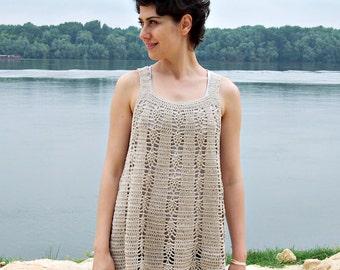 Crochet Pattern, woman  tunic,  tank top, women sweater, crochet dress, beach cover up, DIY, photo tutorial