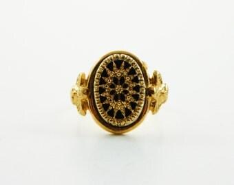Mandala Glass Ring