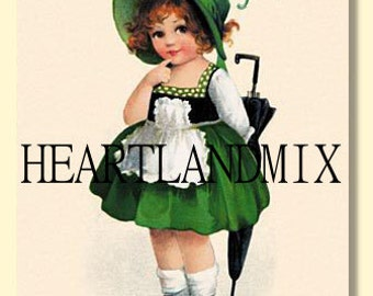 St. Patrick's Day Vintage Digital Download Printable Art Image