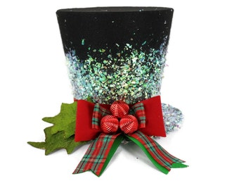Christmas Traditional Top Hat, Tree topper, Christmas Decoration hat