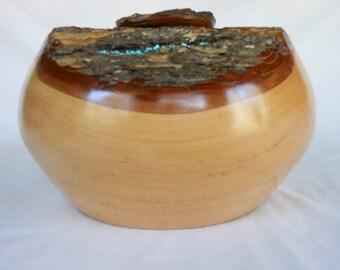 White #Cedar Lidded Vessel