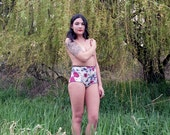 Vintage 1970s Inspired High Waisted Floral Knickers by Aniela Parys Designs - Made to Order