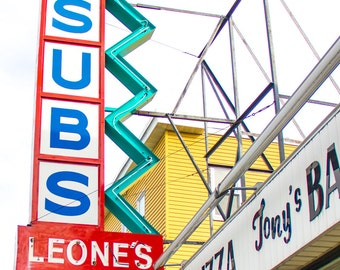 Subs and Pizza Color Photo