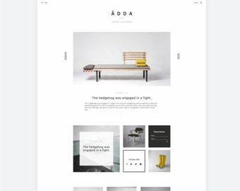 WordPress Theme — Responsive WordPress Website — Lifestyle WordPress Theme — Modern Design Blog Template — WordPress Portfolio Web / Ädda