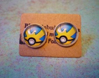 Quick Ball Earrings, Pokemon Earrings, Pokemon Go, Pokémon jewelry, Pokeball earrings, QuickBall earrings, Pokemon pokeballs, gotta catch em