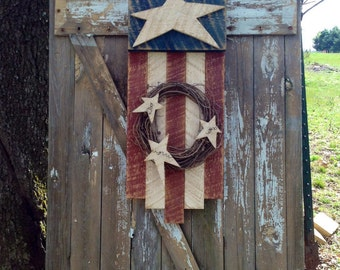 Americana, Primitive American Flag, American Flag, Summer Decor, 4th of July, Rustic Flag , Primitive Summer Decor, Patriotic Decor
