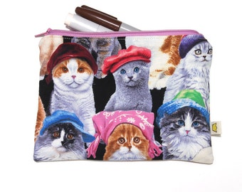 Cat zipper pouch or pencil case