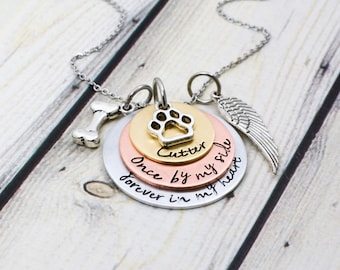 Personalized Dog Loss Necklace - Hand Stamped Dog Loss Jewelry - Loss of Pet Jewelry - Pet Memorial Jewelry - Dog Memorial Necklace