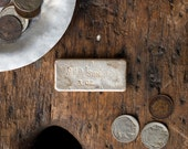 Vintage Old Pour Silver Bar / .999 Purity / Three Ounce Vintage Loaf Bar / Desk Decor