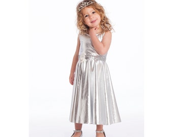 Silver Party Dress for Girls
