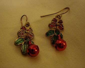 Vintage Dangle Christmas Jewelry Dangle Earrings for Pierced Ears