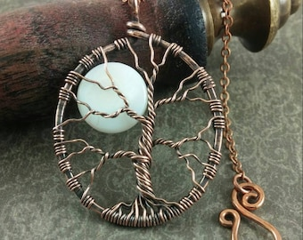 Tree of Life Pendant, Handmade Wire Tree, Copper Tree, Wire Wrapped Tree