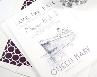 The Queen Mary, Long Beach Save the Date Cards (set of 25 cards)