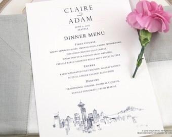 Seattle Skyline Dinner Menus (Sold in sets of 25)