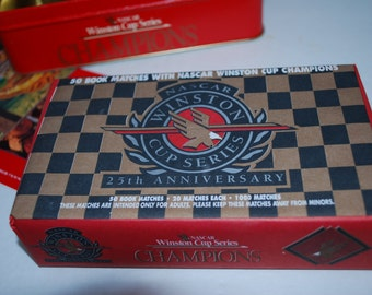 Matches Nascar Winston Cup Champions Tin and 50 Book Matches 25th Anniversary