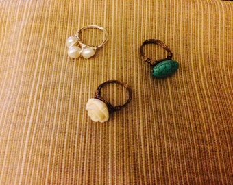 Handmade wire rings