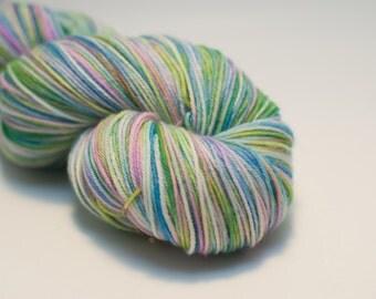 Dreaming of Springtime Superwash Merino/Nylon Sock Yarn - Greens, Blues, Pinks, Purples Variegated