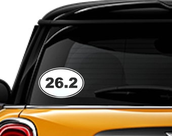 26.2 window decal, FREE SHIPPING, White vinyl 26.2 decal, marathon, running, sports decal, home decor, #103